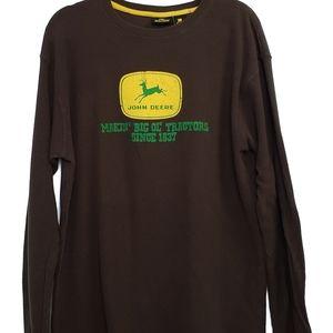 John Deere Graphic Waffle Knit Thermakl Shirt